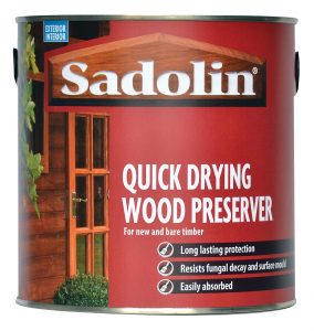Sadolin Quick Drying Wood Preserver resists fungal decay and mould